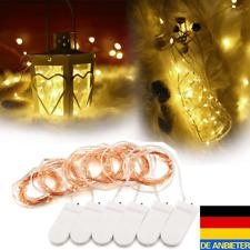 6x Set 2M 20 LED Lichterkette Batterie Kupferdraht Drahtlichterkette Weihnachten
