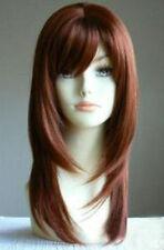 HELLOJF227  Long copper red Health Cosplay health straight hair wig wigs women