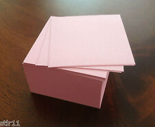 """Note Paper Refill Cube - Loose Replacement Sheets - 3 1/2"""" x 3 1/2 """"( Pink )"""