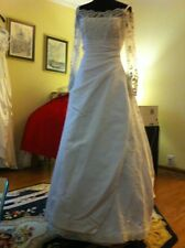 Wedding Gown High End White Lace With Satin Overlay In The Skirt