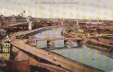 Postcard Bird's Eye View Moscow Russia