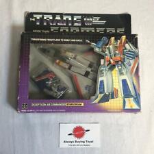 1984 Starscream Pre Rub MIB Boxed Complete G1 Transformers Jet Plane