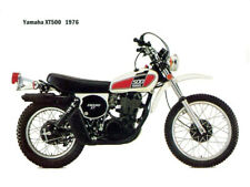 Motorcycle Canvas Picture Yamaha XT500 1976 Canvas 16x12 inch