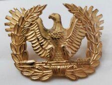 Warrant Officer's Insignia Visor Cap Hat Military emblem Medal Pin Vintage