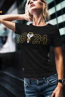 Kobe T-shirt Bryant T-Shirt GOAT Black Mamba 8 24 Logo LA Lakers Women's Shirt