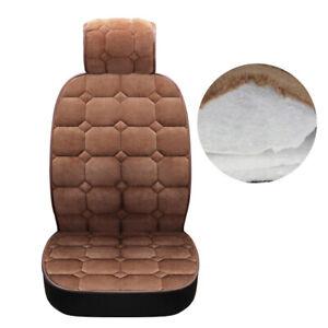 1PC Universal Car Truck Seat Covers Soft Plush Cushion Warmer Pad Brown Winter