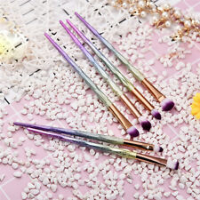 6pcs Diamond Makeup Brushes Eyeshadow Eyebrow Eyeliner Foundation Lip Brush Set