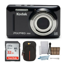 Kodak PIXPRO Friendly Zoom FZ53 (Black) + Sony 32GB Class 10 70MB/s SDHC Memory