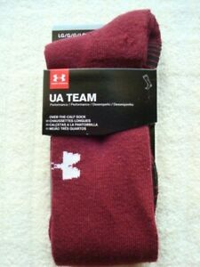 UNDER ARMOUR MENS TEAM SOCKS  LARGE(9-12.5)    ~NEW IN PACKAGE~