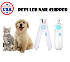 Pet Dog Cat Nail Paw Claw Toe LED Trimmers Clipper Scissors Cutter Grooming Tool