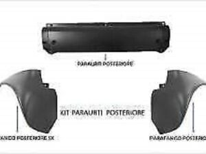 KIT PARAURTI PARAFANGHI POSTERIORE DX SX SMART FORTWO DAL 1998 AL 2007 NO CABRIO