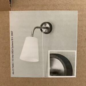 IKEA BASISK Wall Hanging Lamp Light Fixture White Bedside Reading Light 17796