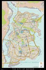 BATMAN - DC COMICS POSTER / PRINT (MAP OF THE CITY OF GOTHAM)