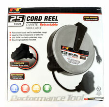 Retractable Extension Cord Reel 25' FT Heavy Duty 3 Outlet W2272 Wilmar