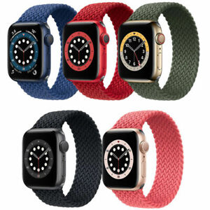 For Apple Watch Series SE 6/5/4/3/2/1 Nylon Braided Strap Band Stretch Elastic