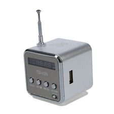 TD-V26 Portable Mini Digital Speaker with Micro SD / TF / USB /FM - Silver- F6I8
