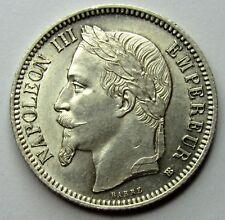 1 Franc - Napoléon III - 1868 bb - Strasbourg - QUALITE