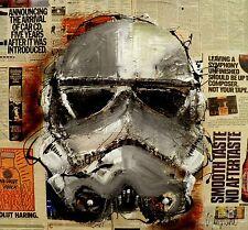STAR WARS - STORMTROOPER - MODERN ART - PAINTING - Original ART by SLAZO