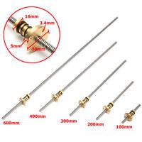 VITE STAMPANTE 3D T8 100/200/300/400/600mm 8mm Lead Screw con dado Anti-Backlash