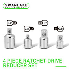 "Socket Adapter and Reducer Set 4pc 3/8"" 1/4"" 1/2"" Ratchet wrench Socket Drive"