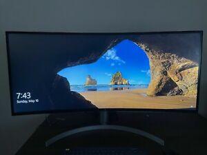 """LG UltraWide 38WN95C-W 38"""" QHD+ IPS LED Curved Monitor - White"""