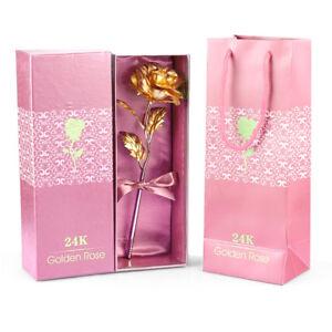 vergoldete rose Goldene Gold Rose mit 24K Gold  Muttertag Geburtstag Geschenk