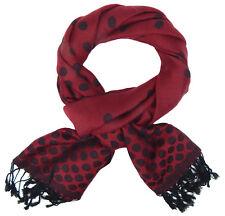 écharpe pour femmes à points rouge noir par Ella Jonte BEAU coton viscose
