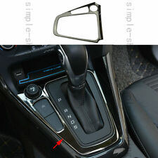 Stainless Steel Chrome Gearshift Knob Panel Cover Trim For Ford Focus 2015-2017