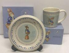 Wedgwood Peter Rabbit Christening Beaker & Plate