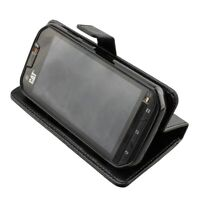 caseroxx Bookstyle-Case for Cat S60 in black made of faux leather