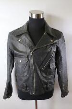 D03192 VTG SEARS Cruiser Rider Brando Motorbike Black Motorcycle Leather Jacket