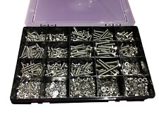 Stainless Steel Assorted Nuts and Bolts Kit M4 M5 M6 A2 Stainless 1635 pcs