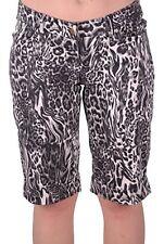 Womens Casual Animal Leopard Print Capri Crop Pants Trousers Shorts Bermuda