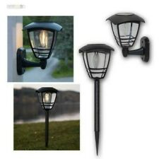Solar Lamp With Filament LED Warm White Path Light Wall Lamp For Outdoor Garden