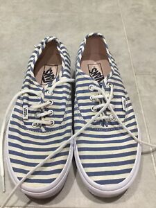 Ladies Vans White/blue Size 5