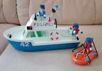 Playmobil - 3539 - Polizeiboot / Küstenwache mit Beiboot / Zubehör - von 1979