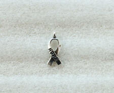 140PCS Antiqued Silver Cancer Awareness HOPE Ribbon Charms A5104