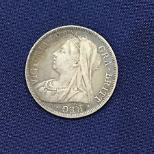 1900 Great Britain Queen Victoria Silver Half Crown  E6225