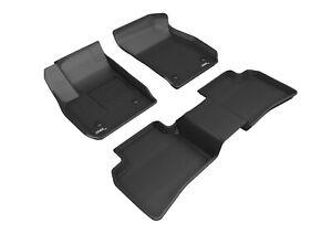 3D MAXpider Floor Liners Kagu Black For 19-21 Cadillac XT4