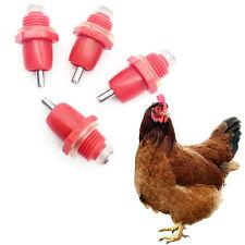 5 PCS Duck Red Drinker Feeder Chicken Water Nipple Automatic Dispenser Spring