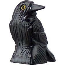 Raven Crow Morrigan Black Onyx Natural Stone Miniature Figurine Carved  #33646