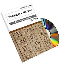 204 Ancient Egyptian Hieroglyphics Old Books on CD Dictionary Learn Teach Study