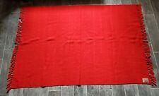 Vintage 1930s Throw Blanket Churchill Weavers Berea KY Handwoven Red Loom Label