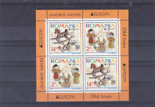 ROMANIA 2015,Old Toys,CEPT,Europe,block II,MNH,horse,bycycle,dolls