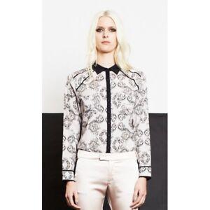 TOI ET MOI - La Bretelle Panel Shirt (TEM1361 - Brocade Print size 6)