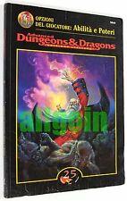 Dungeons & Dragons OPZIONI DEL GIOCATORE ABILITA' E POTERI 1998 TSR #5010 AD&D