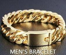 14mm Men's Heavy Solid Stainless Steel Curb Chain Bracelet Fashion Jewelry *1