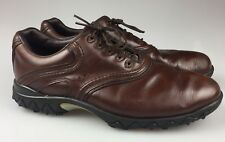 Mens 12M Footjoy Contour Series Brown Leather Soft Spike Golf Shoes 54049