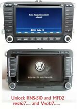 unlock RNS-510, mfd radio