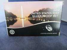 2014-S SILVER Proof Set  EMPTY BOX & COA ONLY - 1 ONE BOX